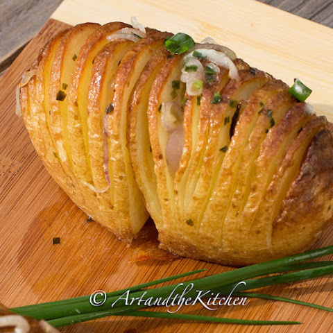 Shallot Hasselback Potatoes