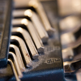 Allen Wrenches Spooning by Koenraad De Roo - Artistic Objects Industrial Objects ( macro, allen, diy, metal, handiwork, tools, tool, wrench, wrenches,  )