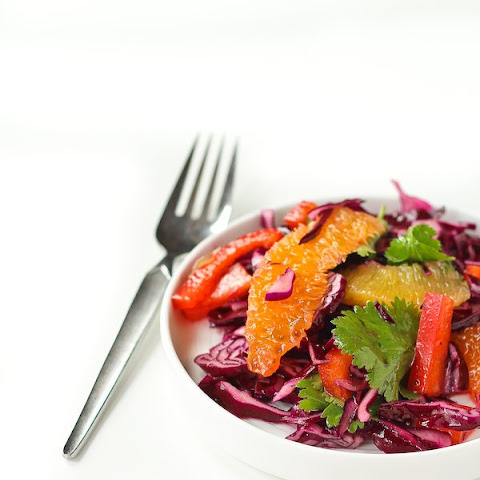 Red Cabbage Salad Recipe with Honey Lime Dressing