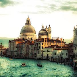 Grand Canal - Venice , Italy by Plamen Mirchev - City,  Street & Park  Historic Districts ( venice, historic district, canal, grand, water, italy, colorful, architecture )