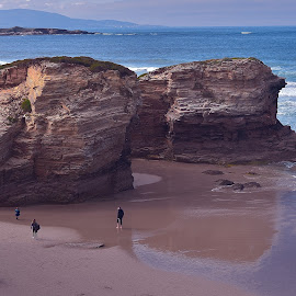 Cathedral Beach by Ciprian BP - Landscapes Caves & Formations ( sand, beach, landscape, stones, rocks )