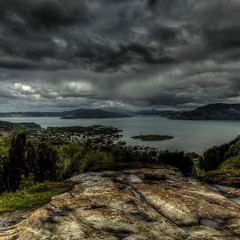 Overcast by Sondre Gunleiksrud - Landscapes Cloud Formations ( cloud formations, clouds, hdr, clouds and sea, cloudscape, cloudy, seascape, landscape, norway )