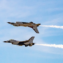 by Jackie Nix - Transportation Airplanes ( maxwell air force base, maxwell afb, montgomery, alabama, aereal acrobatics, jets, thunderbirds, flying, aeunautics, air force, united states air force, planes, air show )
