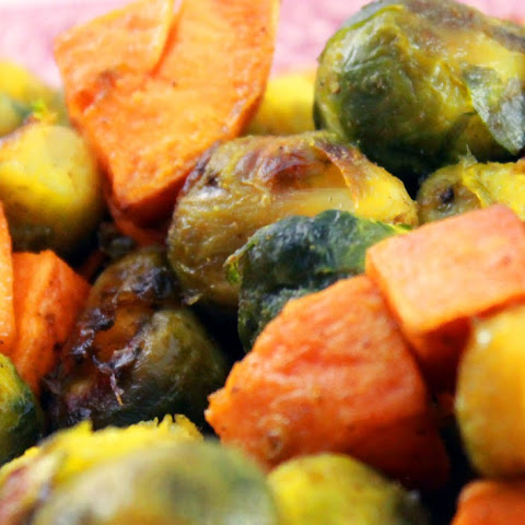 Roasted Sweet Potato and Brussel Sprouts