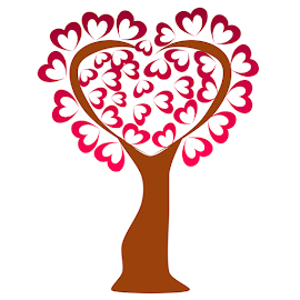 A tree of hearts on white background by Dipali S - Illustration Flowers & Nature ( love, symbol, romance, beauty, branch, red, beautiful, romantic, design, hearts, vector, wedding, day, decoration, element, art, nature, tree, retro, valentine, abstract, leaf, heart, celebration, background, silhouette, illustration, family, sweet, card )