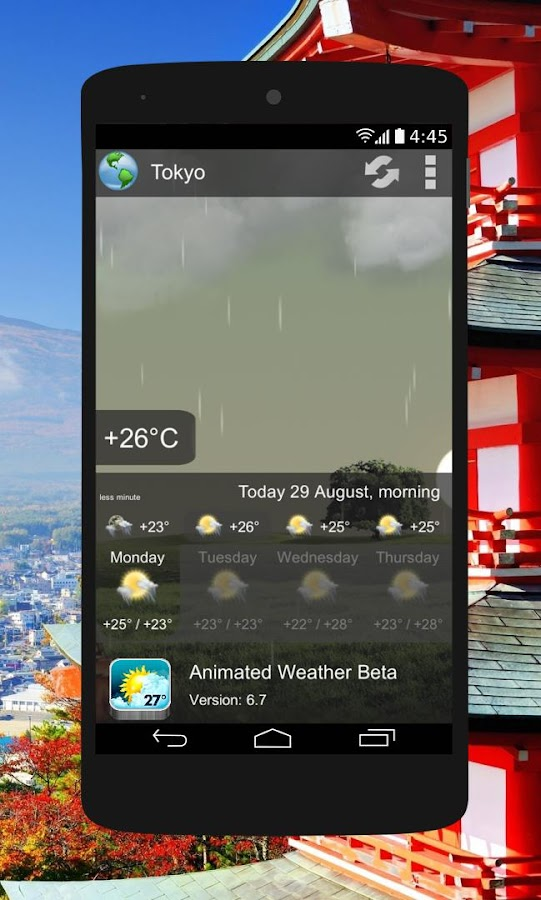 Animated Weather Widget&Clock Screenshot 6