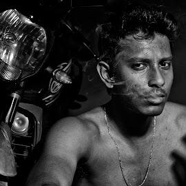 The Arrogant by Arnab Bhattacharyya - People Portraits of Men