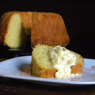 Sweet Corn Pound Cake with Honey Whipped Cream