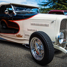 Special Reflection by Jebark Fineartphotography - Transportation Automobiles ( car, reflection, deuce, automobile, roadster, 1932, hot rod, custom )