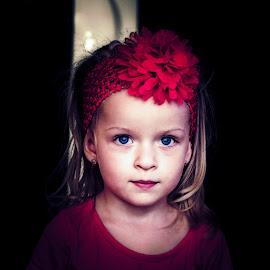 Red by Sebastian Negrea - Babies & Children Child Portraits ( red, girl, blue eyes, children, cute, kid )
