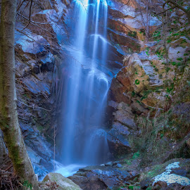 Waterfall by Dimitar Lazarov - Landscapes Travel ( water, mountain, waterfall, forest, travel )