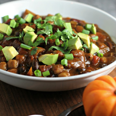 Crock Pot 3 Bean Pumpkin Chili