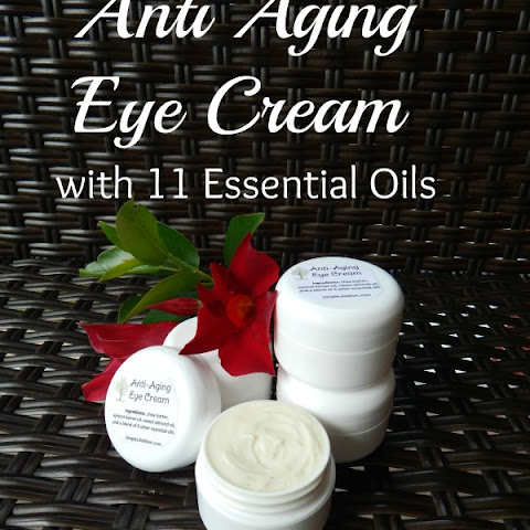 DIY Anti Aging Eye Cream with 11 Essential Oils