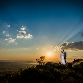African Sunsets by Lood Goosen (LWG Photo) - Wedding Bride & Groom ( wedding photography, wedding photographers, wedding dress, sunsets, wedding, weddings, wedding day, sunset, wedding photographer, bride and groom, bride, groom, bride groom,  )