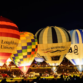 Light Up by Mick Wells - Transportation Other ( illuminated, night, hot air balloons, bristol )