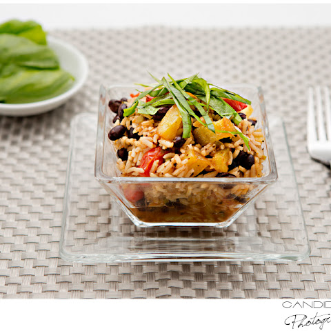 Hawaiian Black Beans & Rice with Roasted Pineapple