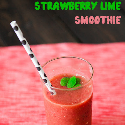 Watermelon Strawberry Lime Smoothie