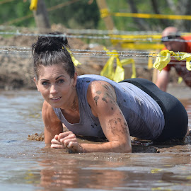 MuckRuck Event by Darrin Halstead - Sports & Fitness Fitness ( water, mud, fitness, event, sports, barbed wire, crawling, running )