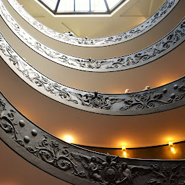 to heaven by Karel Kotrč - Buildings & Architecture Other Interior ( storey staircase, lighting, staircase, people, to heaven )