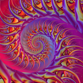 Spiral 19 by Cassy 67 - Illustration Abstract & Patterns ( colorful, abstract art, swirl, wallpaper, digital art, spiral, fractal, digital, fractals )