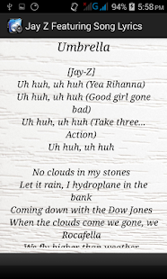 Jay Z Featuring Song Lyrics - screenshot