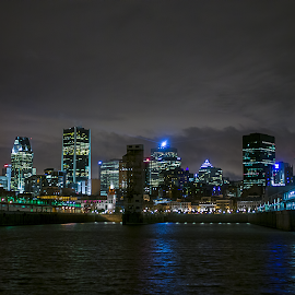 Montreal, QC by Daniel Thomas - Buildings & Architecture Other Exteriors ( port, night, nightscape, city )