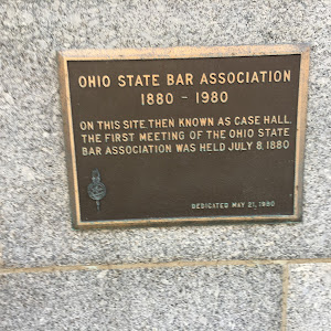 Ohio State Bar Association1880 - 1980On this site, then known as Case Hall, the first meeting of the Ohio State Bar Association was held July 8, 1880.Dedicated May 21, 1980Submitted byBryan ...