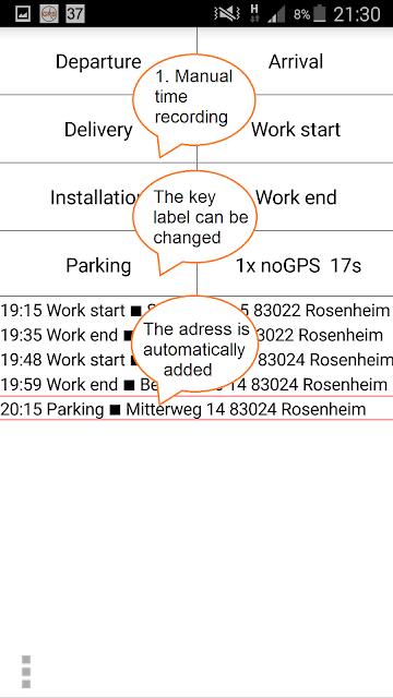 GPS Time Tracker - logbook Pro screenshots