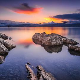 Sea,stone and light of sunset.. by Mario Španjić - Landscapes Sunsets & Sunrises ( mario, sea )