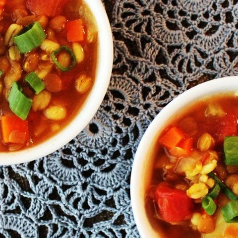 Hearty Barley-Lentil Soup with Potatoes