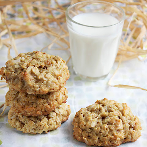 Chewy Pecan Coconut Oatmeal Cookies