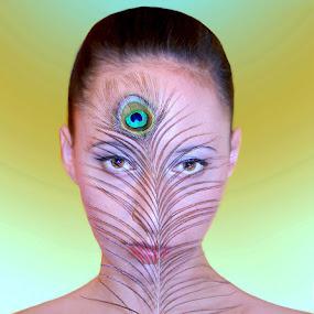 The third eye by Viktorija Golubić - People Fine Art