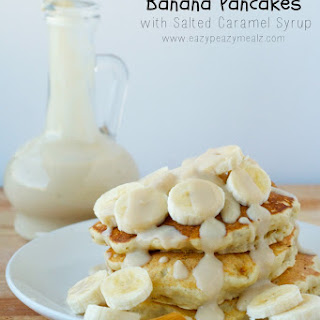Banana Pancakes with Salted Caramel Syrup