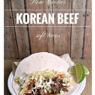 Slow Cooker Korean Beef Soft Tacos