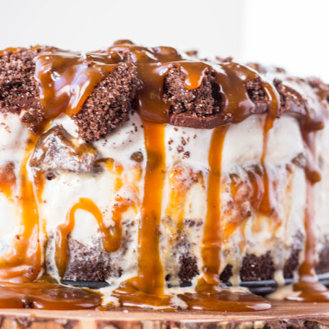 Salted Chocolate + Caramel Ice Cream Cake
