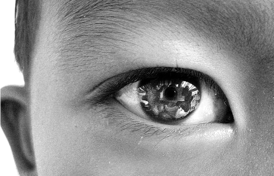 When you look in the Eye of a Child by Allan Opguar - People Body Parts ( child, clear, look, allan opguar, philippines, eyes )
