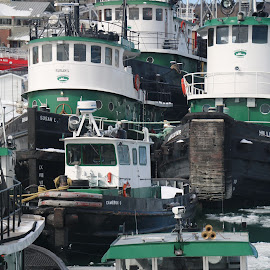 working tug boats by Jon Radtke - Transportation Other ( working tug boats )