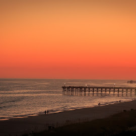 Evening by Rananjay Kumar - Landscapes Beaches ( canon, canon70d, pier, sc, beach, landscape, usa )