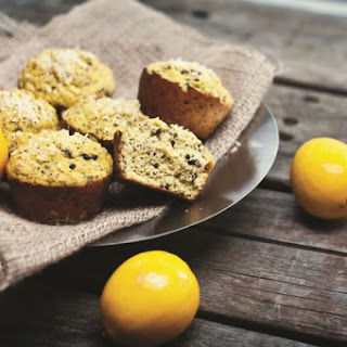 High-Protein Lemon Coconut Poppy Seed Muffins