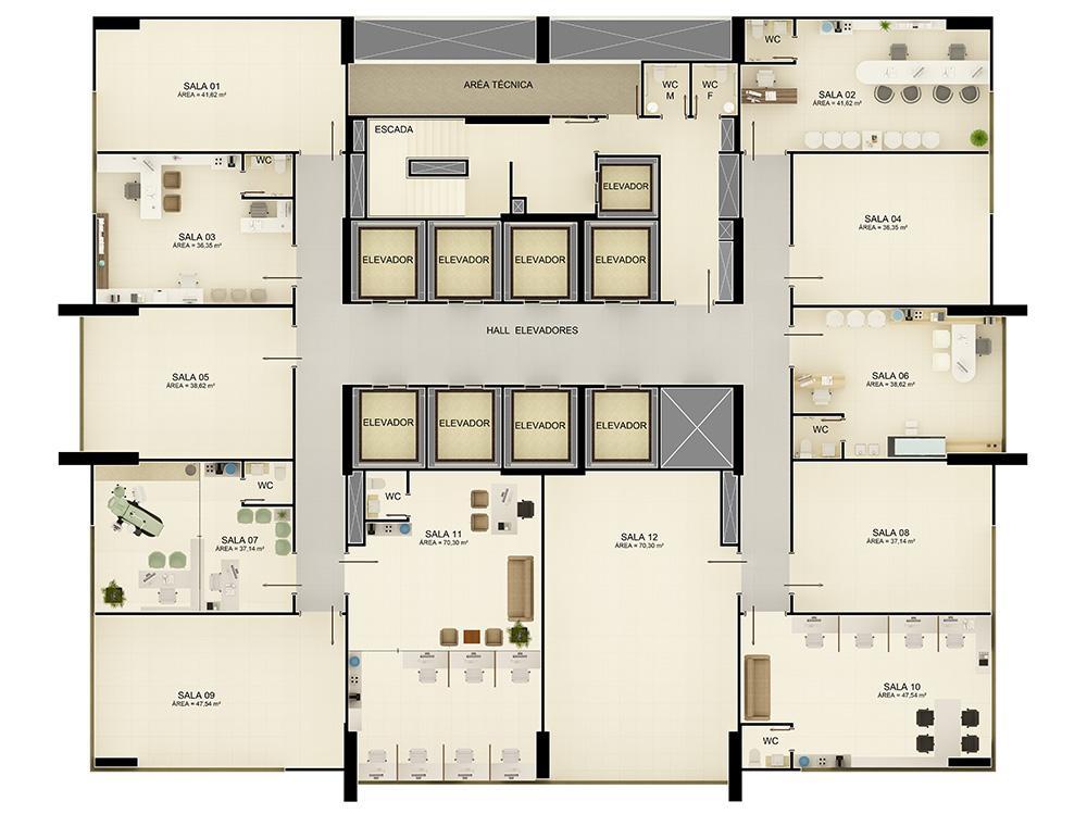 Sala comercial para locação, Miramar, João Pessoa - SA0158.