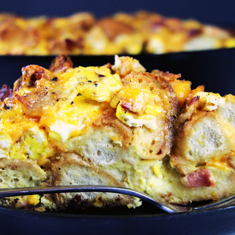 Egg Bacon & Cheese Bagel Bake