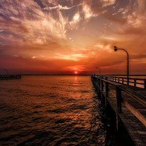 Summer's Beauty by Linda Karlin - Landscapes Sunsets & Sunrises ( sunset, long island, landscape )