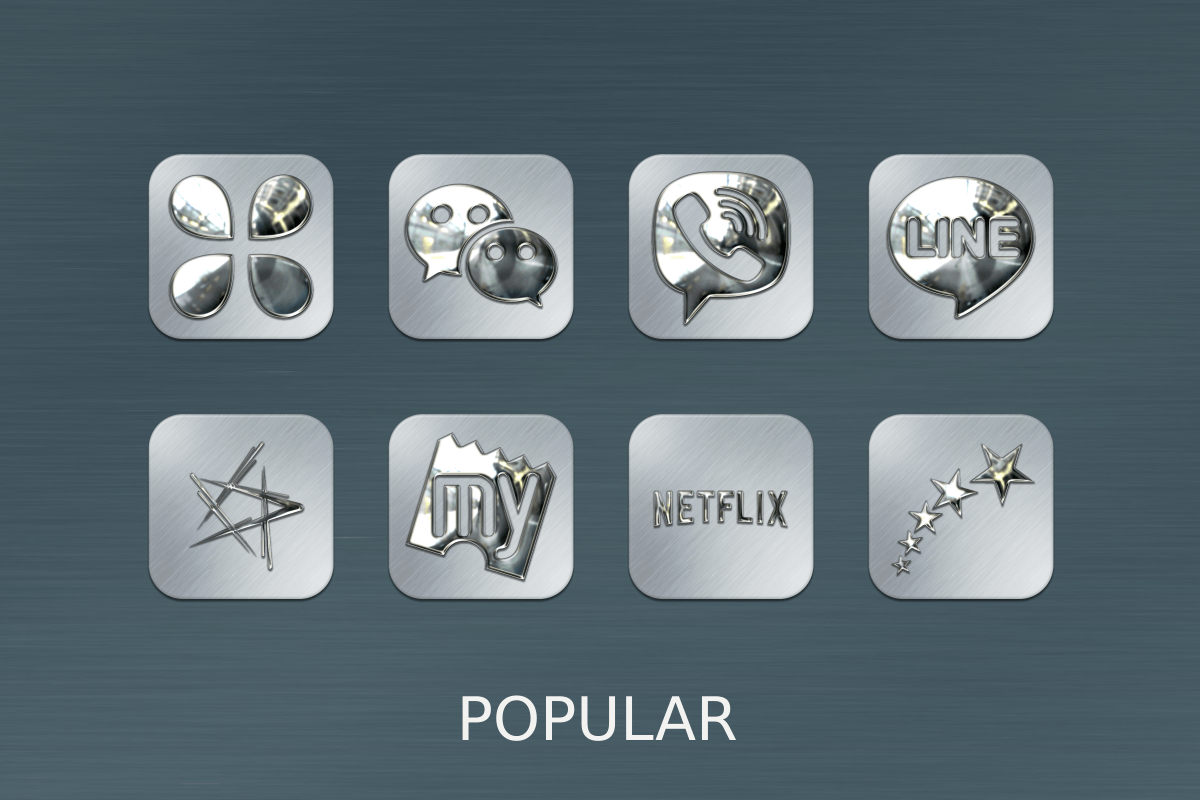 Silver Chrome Icon Pack Screenshot 7