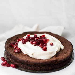 Flourless Chocolate & Pomegranate Cake