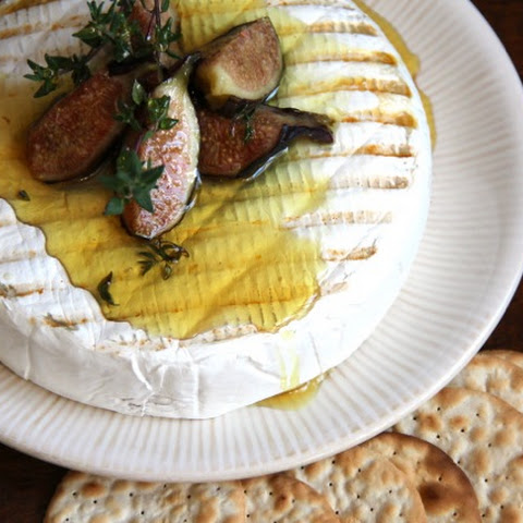 Grilled Brie with Figs & Thyme Honey