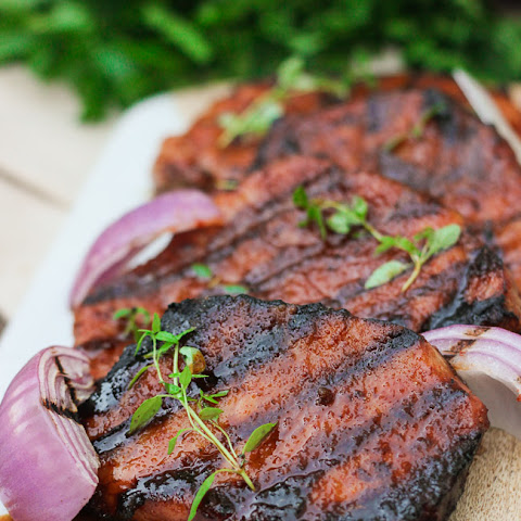 Cayenne Glazed Pork Chops