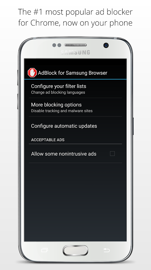 AdBlock for Samsung Internet Screenshot 2