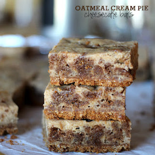 Oatmeal Cream Pie Cheesecake Bars