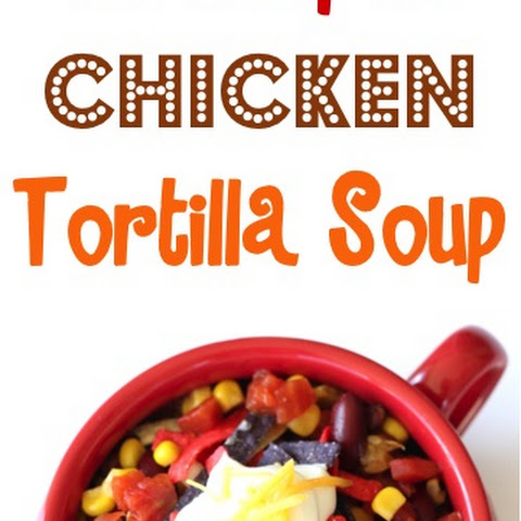 Crockpot Chicken Tortilla Soup Recipe!