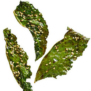 Soy and Sesame Kale Chips